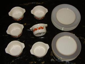 "Tea / Coffee set,"" Stackaway ""18 piece, 70's style and col"