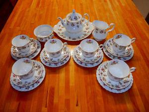 Vintage Royal Albert 'Winsome' Bone China Tea Set