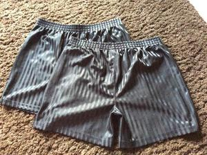 2 x Boy's Black Football/Rugby/PE Shorts Size  years