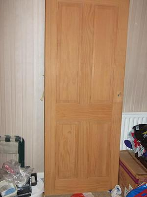 "2 x Solid wood doors - wooden 30"" x 77"" approx."