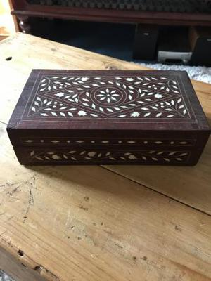 Antique box with mother of pearl