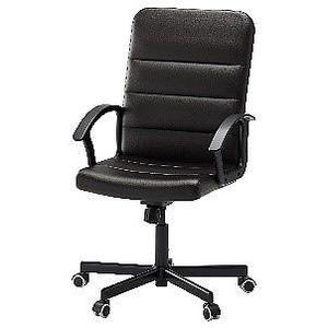 Black IKEA Torkel Faux Leather Office Chair