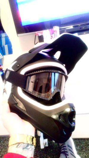 Brand new sixsixone Helmet With fox Goggles.