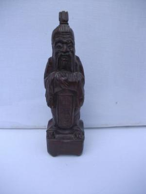 CHINESE IMMORTAL.VINTAGE WOODEN CHINESE FIGURE.
