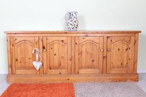 DELIVERY OPTIONS - 6 FT SOLID PINE SIDEBOARD/CUP TONGUE