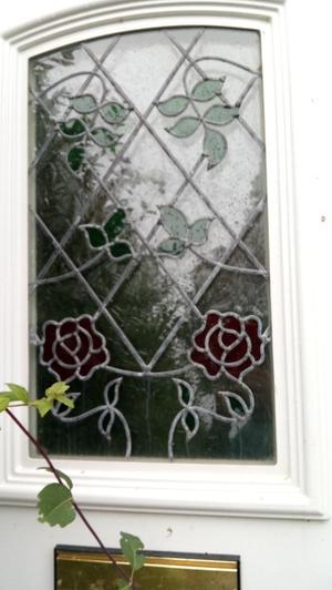 Double glazed white pvc door