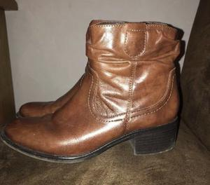 Marks and Spencer's footglove brown leather ankle boots Size 6.5