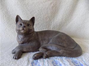 RARE Poole pottery stoneware cat in Bristol