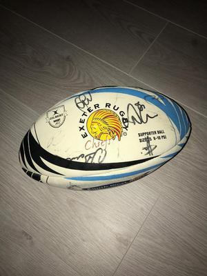 Signed Exeter Chiefs Rugby Ball