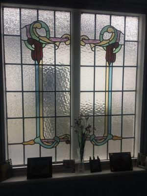 Stained glass windows posot class for 15 panel beveled glass door