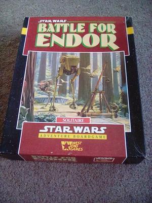 Star Wars Battle For Endor Solitaire Board Game.