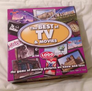 The Best of TV and Movies Logo Board Game . Complete And VGC.