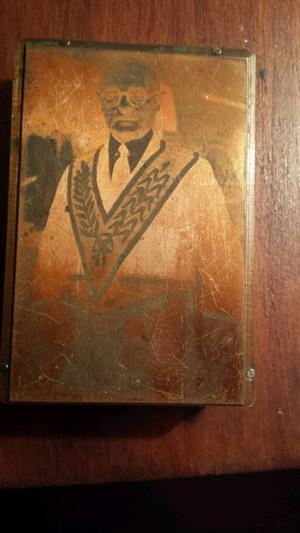 Vintage Art Deco Copper Plate Print