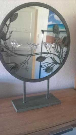 beautiful mirrored fire guard/ornament with crystal birds