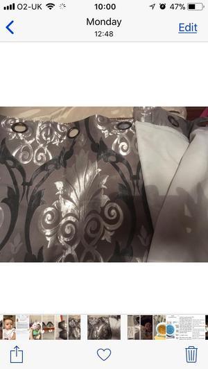 Grey/silver curtains