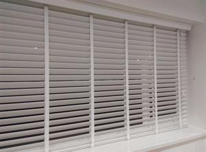 Hillary's white pvc Venetian blind 50mm slats with tapes