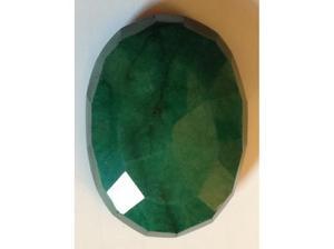 Large Green Brazilian Emerald 126ct Natural Grade AAA Dark