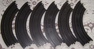 Micro Scalextric 1:64 Track - L / G° Curves Bends