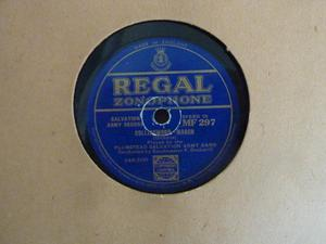 SALVATION ARMY BAND 78rpm REGAL ZONOPHONE RECORDS