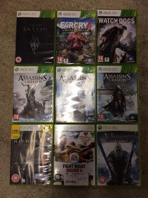 9x Xbox 360 Games