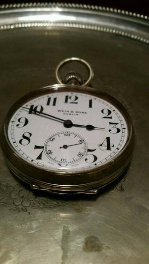 Antique Goliath Pocket Watch Weir & Sons Dublin