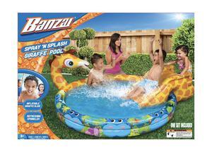 Banzai Spray 'N Splash Giraffe Pool (Inflatable Swimming