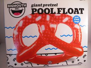 Big Mouth Giant Pretzel Pool Float 5ft Long Pool Party Fun