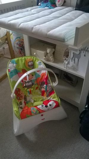 Fisher Price bouncer+ Vtech cot mobile+Fisher-Price Play Gym