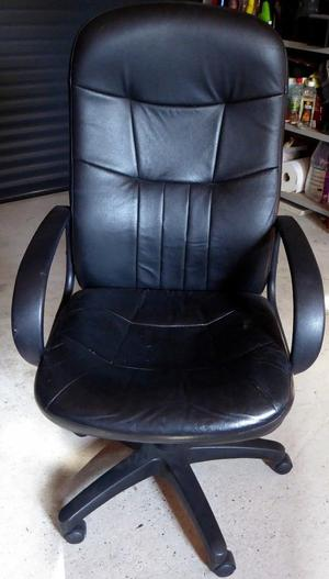 HIGH BACK OFFICE / DESK CHAIR BLACK FAUX LEATHER