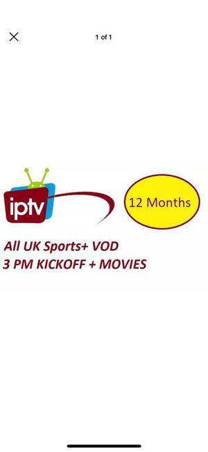 IPTV 12 months for £25 NO LAG AND ITS HD