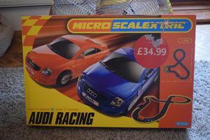 Scalextric audi racing boxed set.New old stock.(23.1)