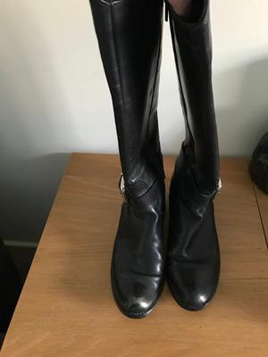 Size 5 Italian Leather Knee High Boots