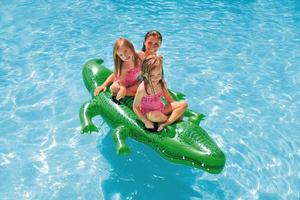 Swimming Kids Inflatable Float Large Ride On Alligator Beach