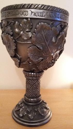 DEEPLY ENGRAVED AND BEAUTIFULLY CRAFTED PEWTER GOBLET - MAGICK/WICCA/ALTAR/NEW AGE!