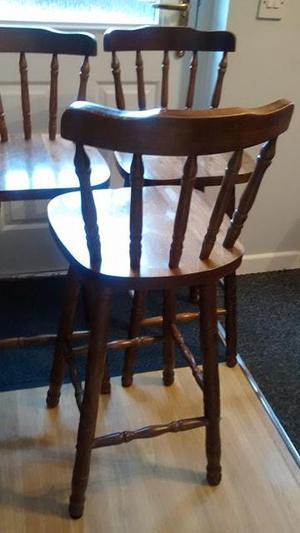 Good set of 3 wooden stools