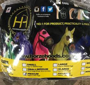 Horze hoods,Lycra hood with waterproof face for turning out