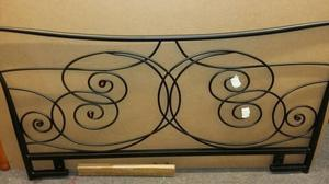 New Black Metal Double Bed Headboard with all the fixings