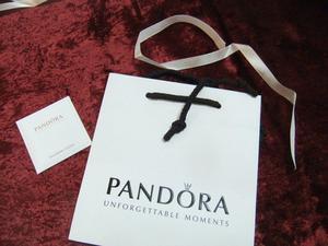 New small Pandora Gift Bag / white Ribbon & New PANDORA