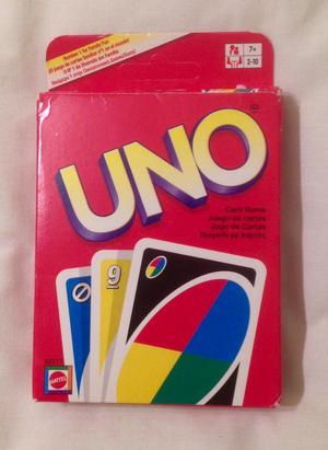 UNO PLAYING CARDS GAME FROM MATTEL  EDITION. COMPLETE AND VGC.