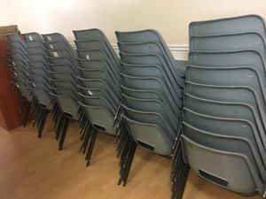 55 Plastic chairs in good condition