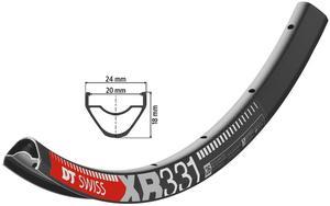 Rim XR black  TL-Ready 32 holes DT Swiss