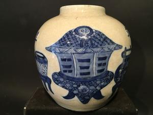 A blue/white Ginger jar - China - 19th century