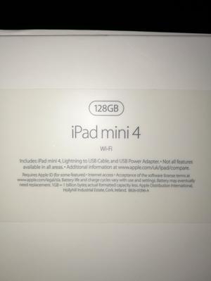 Apple ipad mini gb, new in box