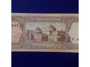 Bank Note The Bank of Afghanistan Afghanis in Wells