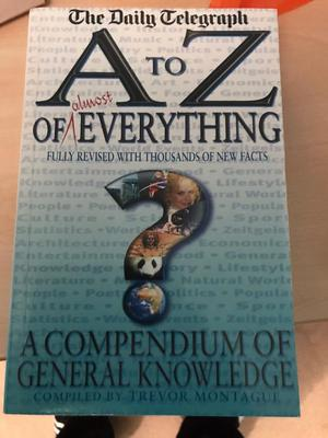 Book A to Z of everything.... good for quizzes