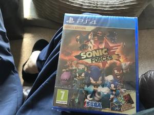Brand new sealed PS4 game new limited edition sonic forces bargain £35 Ono