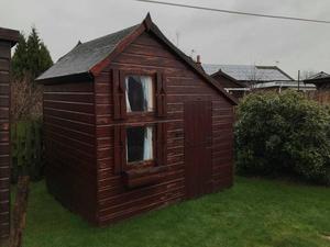 Children's 2 Storey Wooden Garden Play House Shed