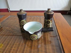 Denby Arabesque condiment set and gravy boat