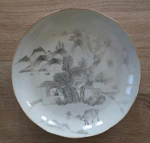 Pocelain plate – China XIX –Daoguang Mark -