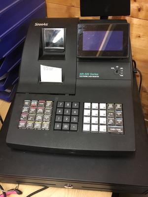 Sam4s nr-500 series shop till / cash registerwith barcde scanner